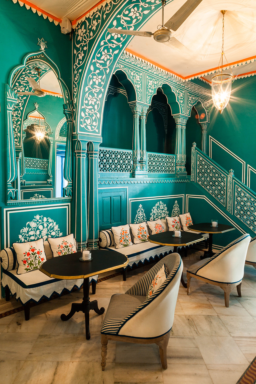 Bar Palladio - classical Indian archways and embellishments