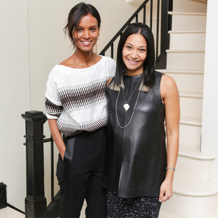 Liya Kebede and Monique Péan at the launch of their collaborative capsule collection