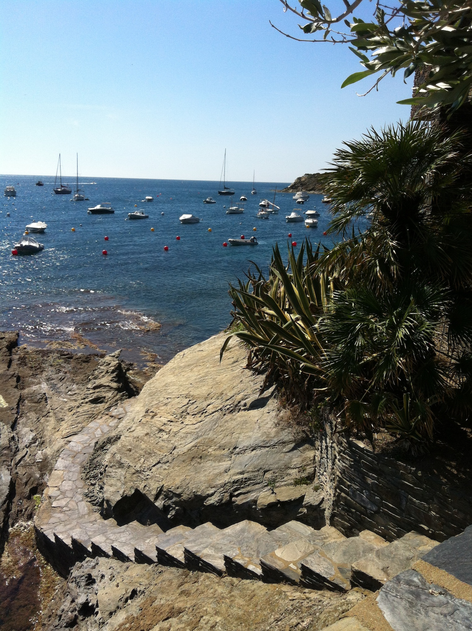 View out over the harbor in Cadaques