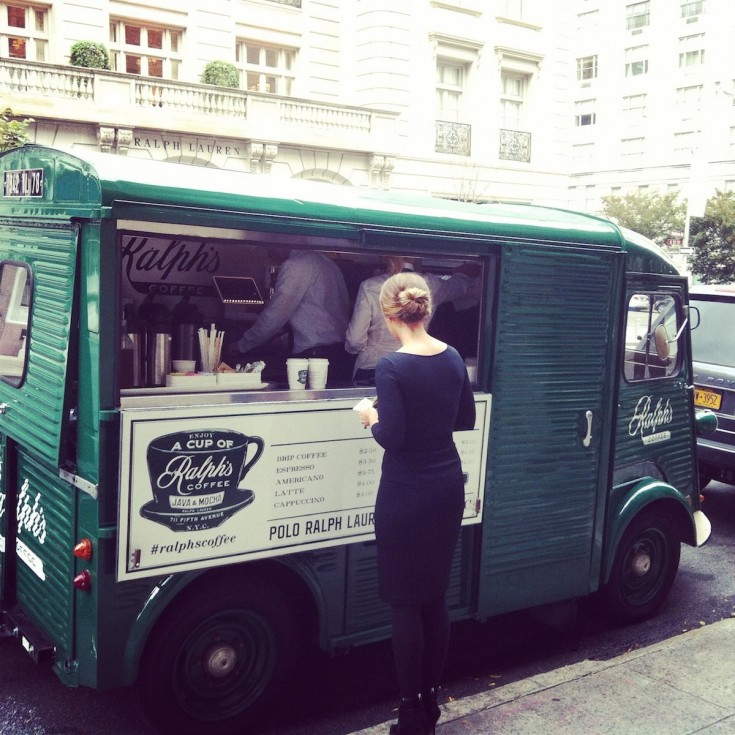 Ralph Lauren coffee truck