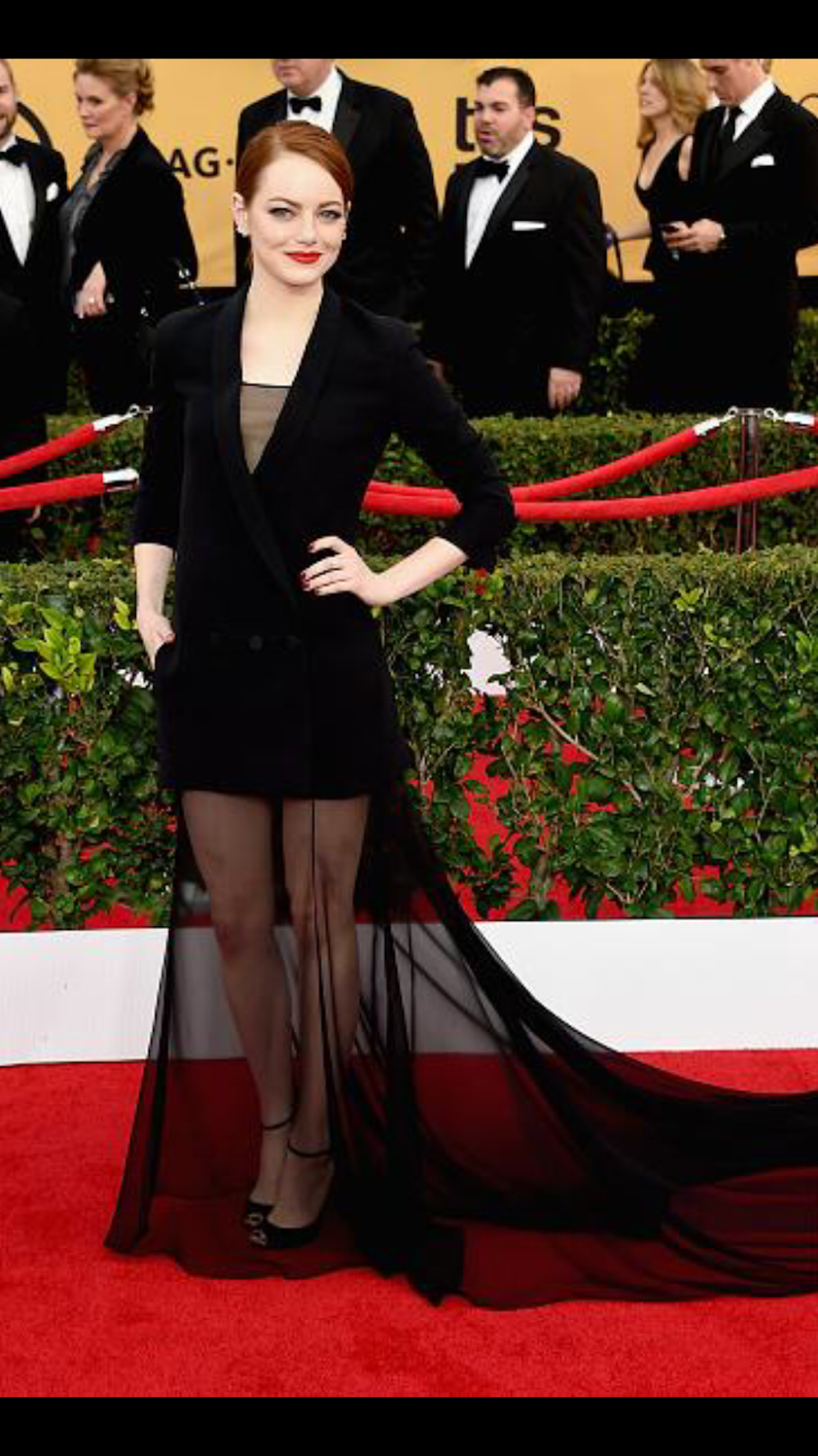 Emma Stone in Dior at the SAG Awards